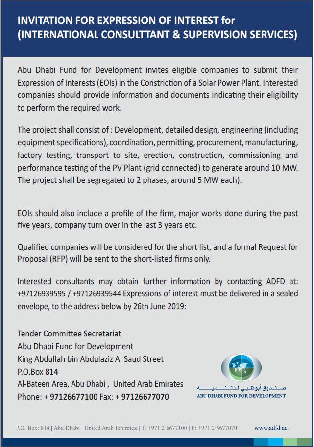 Solar Rfp 2019